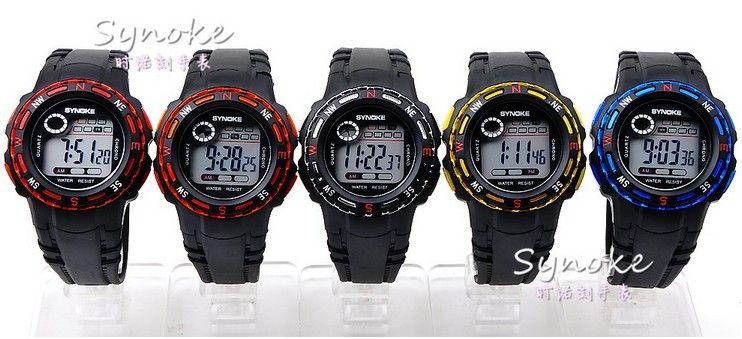 Heiße Sport-Digitalarmbanduhr LED-Kind-Uhr-Silikon-Band-wasserdichte Mischungs-Farben geben Tropfen-Verschiffen frei