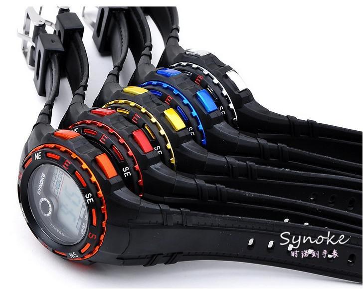 Deportes calientes reloj de pulsera digital Kid Kid Silicon Band mezcla impermeable colores envío gratuito de la gota