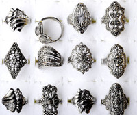 Wholesale Cheap Vintage Jewelry For Sale - Hot Sale~! Mix lots 20Pcs Fashion style Elegant Alloy Rings Vintage Rings for women Cheap Rings Jewelry [F08*20]