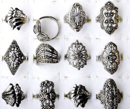 Wholesale Cheap Rings For Sale - Hot Sale~! Mix lots 20Pcs Fashion style Elegant Alloy Rings Vintage Rings for women Cheap Rings Jewelry [F08*20]