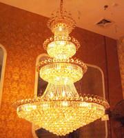 lâmpadas de assoalho para o hotel venda por atacado-nimi99 Penthouse Piso Villa Escadas Duplex Mansão Do Hotel Lobby Grande Sala de estar Lâmpada K9 Candelabro De Cristal Pingente Droplight Iluminação