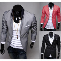Wholesale Mens Fitted Casual Coats - S5Q Mens Casual Clothes Slim Fit Stylish Suit Blazer Coats Jackets AAACFQ