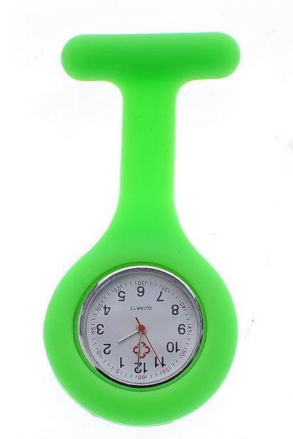 silicona enfermera reloj enfermera pin reloj silicona banda bolsillo enfermera reloj 100 unids precio FOB