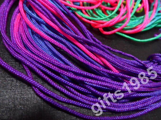 Wholesale 12m 1.5mm bunte DIY Schmuck geflochtenes Seil vielseitig 100% gute Qualität