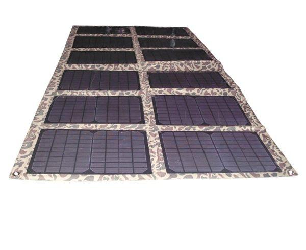 120Watt Monocrystalline Folding Solar Panel Kit for 12V Car/Boat Battery Solar Powered Charger for Laptop/Computer
