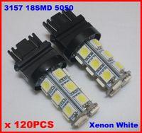 audi a4 xenon lights h7 achat en gros de-120pcs 3157 T25 18SMD 5050 18-LED arrêt de queue de frein Turn Reverse Lights Ampoules Auto Lampe Xenon Blanc / Blanc Chaud 6000K Super Bright 12V DC 1.5W