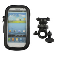 Wholesale Galaxy S3 Waterproof Bike Holder - IP4 Waterproof Bicycle Bike Handlebar Stand Mount Holder Bag for Samsung Galaxy S3 I9300 FOR Galaxy S4 i9500 for Galaxy s5 i9600 50pc lot