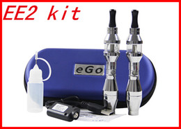 Wholesale Ego Ee2 Double - Hot eGo Double Stem EE2 ego kit EE2 Tank Atomizer Clearomizer 650 900 1100mah Battery ego E- Cigarette kits in ziper case DHL 10pcs