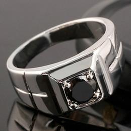 Wholesale Unique Sapphires - Unique Black Sapphire Men Solid Sterling Silver Ring Man NAL Size 10 11 12 13 R508