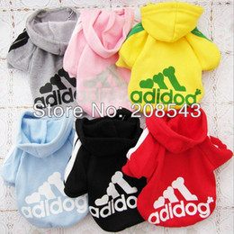 Wholesale Cotton Dresses For Dogs - Free Shipping ! Pet Dog Clothes Cotton Hooded Coat Clothes for Dogs, Playsuit Clothing for Dog, Pets Costumes Shirt Dress Sweater