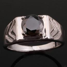 Novo Design Preto Onyx Banhado A Ouro Branco dos homens 925 Sterling Silver Ring Man NAL Multi Tamanhos R513 de