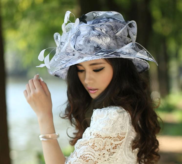 Women Hats Organza Hat Fashion Women Hats Winter Hat Millinery Chapeau Big  Sun Shading Hats Organza Hats Sun Hats Bucket Hats For Men Womens Hats From  ... 49373362cd20