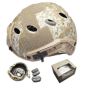 Fast Pararescue Jump Airsoft PJ With Picatinny Wing-loc ARC Rail Adapter NVG Mount Camouflage Helmet Free Shipping