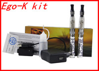 Wholesale Ego Ce4 Gift Box - Ego-K Starter Double Stem E-cigarettes Kit CE4 Atomizer Clearomizer colorful 650mah 900mah 1100mah battery eGo kit in Gift box DHL Free