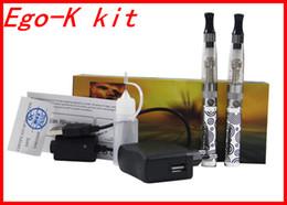 Wholesale Ego Ce4 Gift Box - Ego-K Starter Double Stem E-cigarettes Kit CE4 Atomizer Clearomizer colorful 650mah 900mah 1100mah battery eGo kit in Gift box DHL Free
