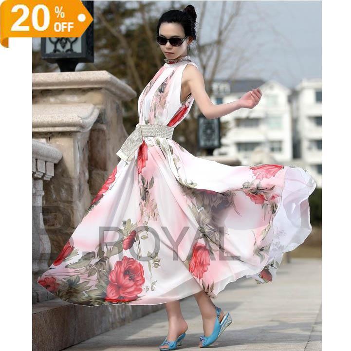 2017 Bohemian Fashion Women Dress Hot Beach Maxi Long Party Skirt ...