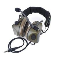 auriculares comtac al por mayor-NUEVO Z táctico Comtac II auricular Z041 con cancelación de ruido (enchufe estándar) color OD envío gratis