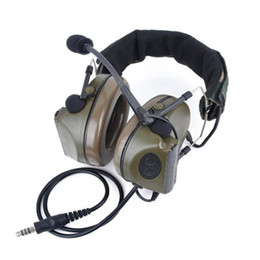 Auriculares tácticos online-Brand NEW Z tactical Comtac II Headset Z041 with Noise canceling ( Standard Plug) OD Color free shipping