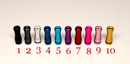 Wholesale Ego Metal Cartomizers - Electronic Cigarette Aluminum Metal Ego Drip Tip for Vivi Nova Tank 510 Cartomizers Colorful Aluminum Metal Material New Ego Mouthpiece
