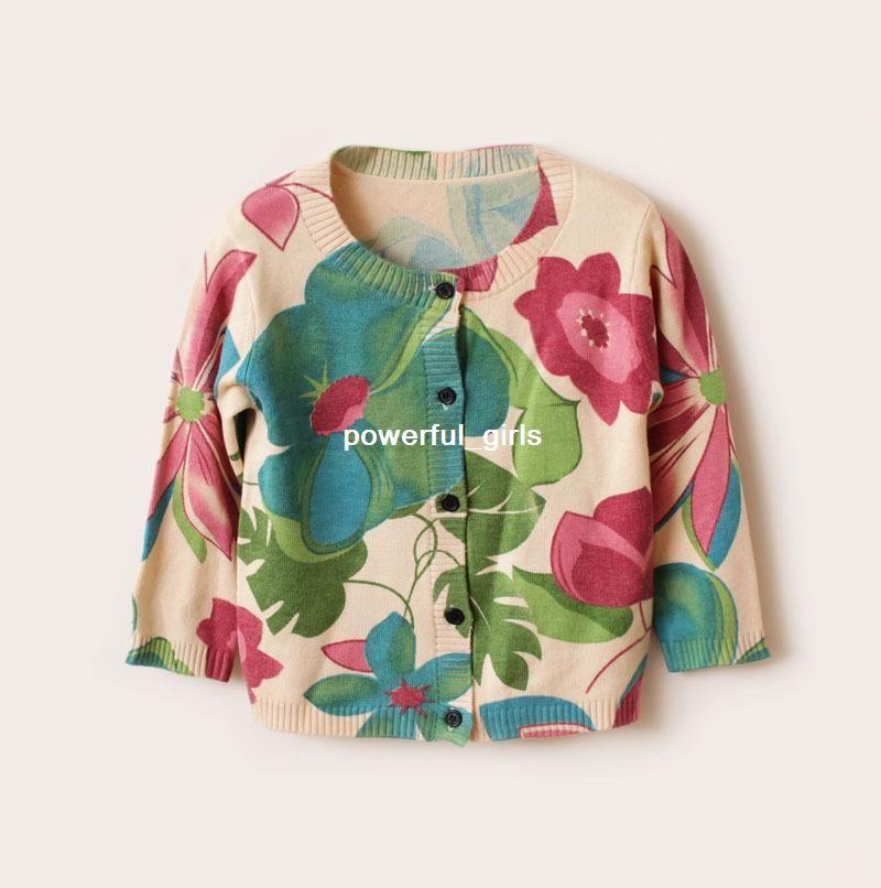 next Children Knitwear,Girls Floral Print Cardigan,Girls Knitted ...