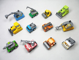 Wholesale Toy Bulldozers - Friction Car Mini Pull Back Truck Cars New Gifts Kids Toys Trailer Road Roller Bulldozers