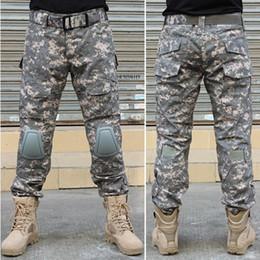 Juegos de guerra táctica online-BDU Combat Uniform Tactical Assault Pants con rodilleras Army Trouser para Airsoft Soldier Survival War Game Envío gratis