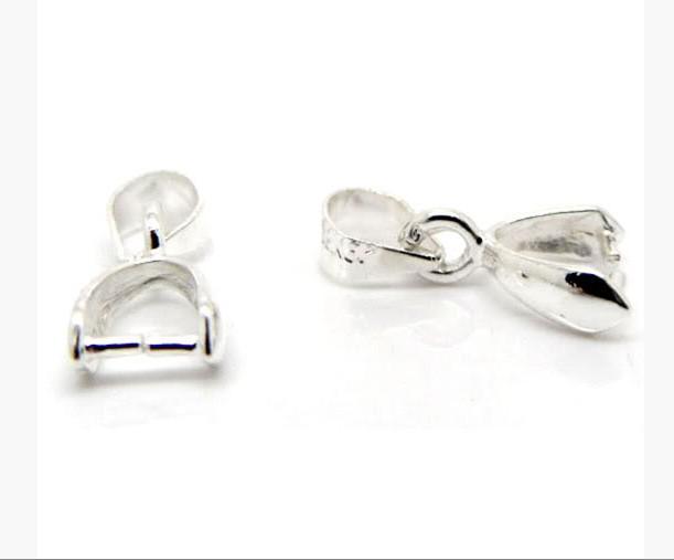 Hot / argent plaqué pincée Clip Bail perles conclusions 15x5.6mm résultats de bijoux composants bricolage