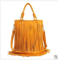 Wholesale Tassel Fringe Handbag - Hot New Free Shipping With Tracking Number Women's Fashion Punk Tassel Fringe Handbag Shoulder Bag 788
