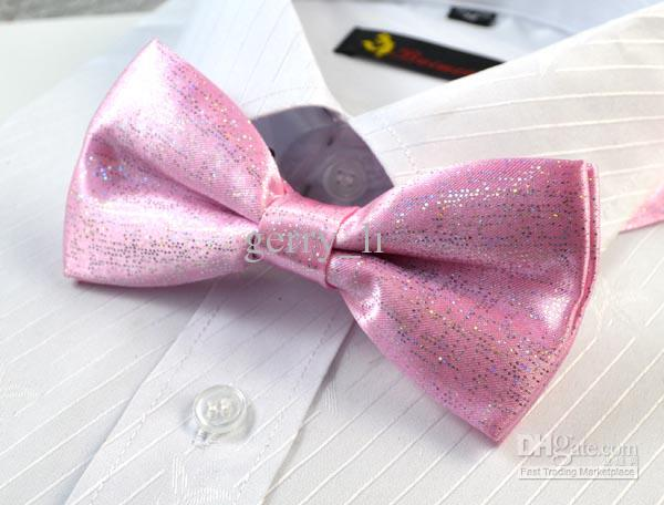 Brightly Colored Mens Neck Bowtie Solid Bow Tie Pre-tied Adjustable Bow Tie For Choose
