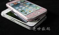 яблоко алмазная наклейка оптовых-Bling блеск кожи всего тела протектор экрана стикер цвет Алмаз блеск кожи обложка для Apple iPhone 5 5G 5-й