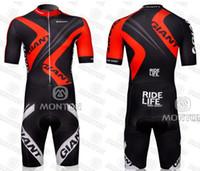Wholesale Giant Skinsuit - 2012 giant Men's Cycling Skinsuit  Bike Clothing wear  triathlon Ciclismo Maillot