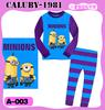 Wholesale -new pajamas Despicable Me Minion underwear baby colothes 2 pcs sets Childrensuit outfit suit Pajamas homewear -WHP828G