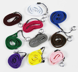 Wholesale Ego T Lanyard Rings - Ego Electronic Cigarette Lanyard Ring Neck Sling with a Ring E-Cigarette EGO EGO-T little rope portable pendant necklace neck chain
