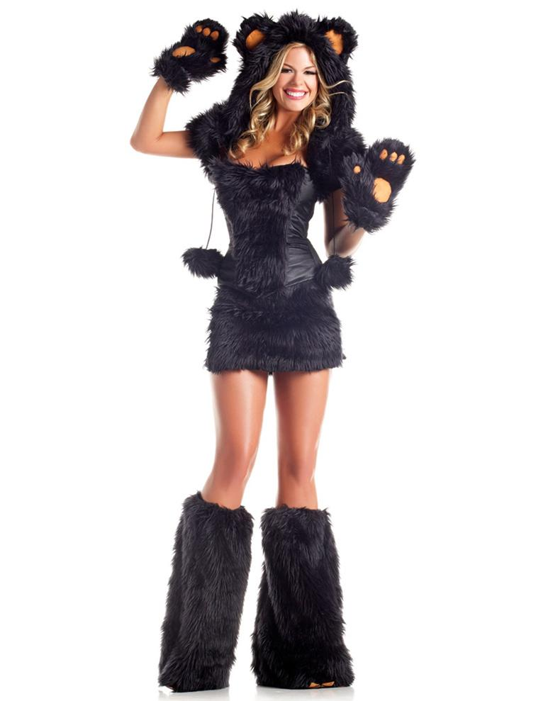 Cosplay Animal Costumes For Adult Women Sexy Black Bear Beauty Costume Bustier Top Party Uniform Skirt  sc 1 st  DHgate.com & Cosplay Animal Costumes For Adult Women Sexy Black Bear Beauty ...