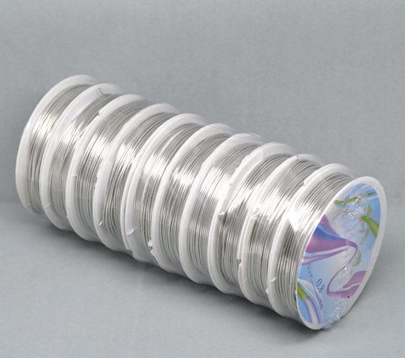 0.8 ملليمتر 10 رولز 4 متر / لفة الفضة لهجة النحاس النمر الذيل الديكور سلك الصلب سلسلة مجوهرات diy النتائج مجوهرات شحن مجاني