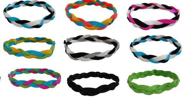 New Fashion Großhandel billig 3-Seil geflochten Sport Haar Stirnband Yoga Stirnband Fußball Stirnband für Frauen Mädchen