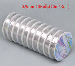 $enCountryForm.capitalKeyWord Canada - 0.5mm 10Rolls (10m roll) Fashion Silver Tone Copper Tiger Tail Beading Wire jewelry string DIY Jewelry Findings Free Shipping