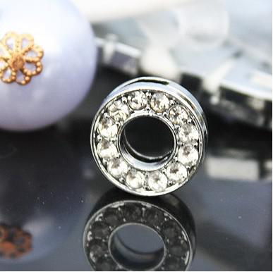 / 10mm O volle Rhinestones Bling-Dia DIY-Charme paßt für 10mm Leder-Armband-Hundehalsband Schlüsselanhänger 0011