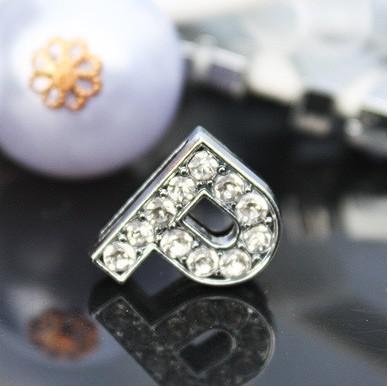 / 10mm P voll Rhinestones Bling-Dia DIY Legierung Zusätze gepasst für 10MM Armband Schlüsselanhänger 0039