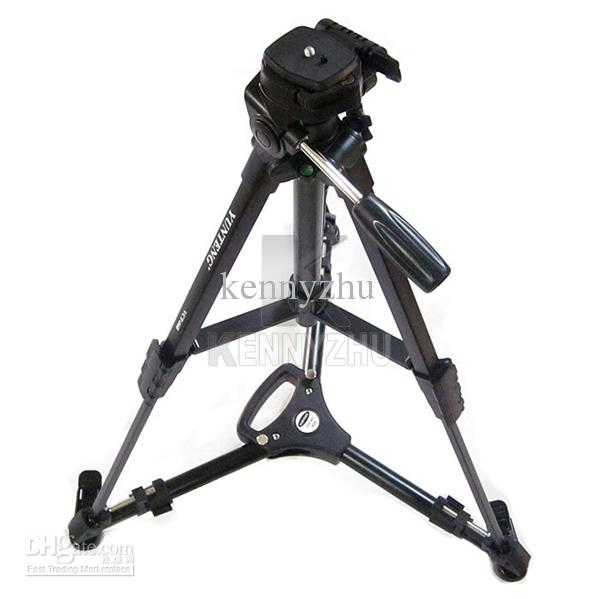 By Free DHL YUNTENG 901 Professional Folding Aluminum Alloy Large Size Tripod Dolly Stand Base + Carrying Bag for Video Camera Camcorder