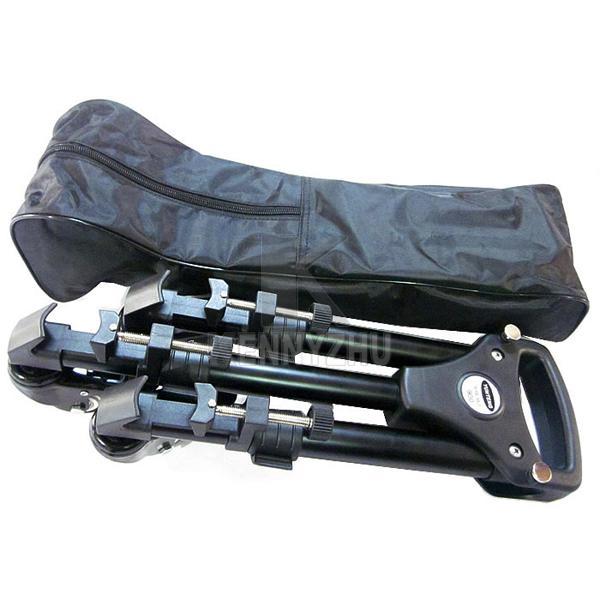 YUNTENG 901 plegable profesional de aleación de aluminio de gran tamaño trípode Dolly base del soporte + bolsa de transporte para la cámara de vídeo de la videocámara