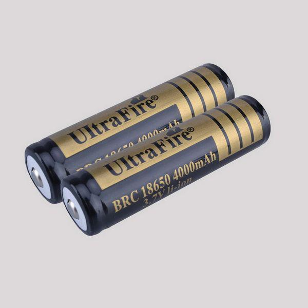 2016 Ultrafire Protected 18650 Battery 3 7v 4000mah