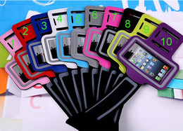 Wholesale Iphone 3g Sport Case - phone holder Armband Colorful Arm Band For iPhone 4S 4G 4 3G 3GS i itouch Video Sport Bag Armband Case