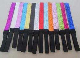 Wholesale U Choose - Hot selling 10pcs 58pcs colors gelittery Zebra Glitter Headband Team Sports Glittery Headband U Choose Sparkle