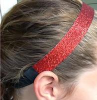 Wholesale Sparkly Sports Headbands - 400pcs Mix glittery Glitter Stretch sparkly Softball Sports Headband wholesale free shipping by DHL