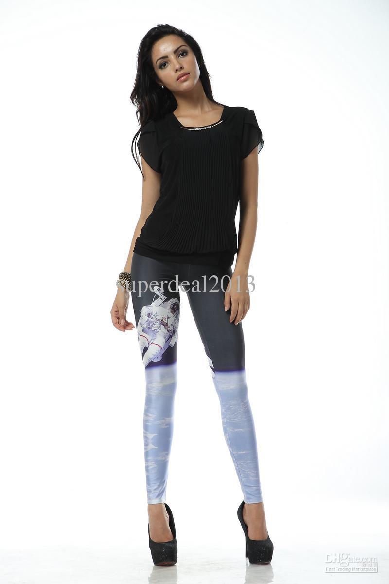 35f343be718d6 DK080 Women pants Tights for women 2013 New SPACEMAN LEGGINGS Shiny
