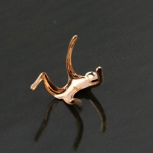 Великобритания горячая серебро золото восхождение человек голый альпинист ухо манжеты спираль хряща клип серьги Рождество 80643