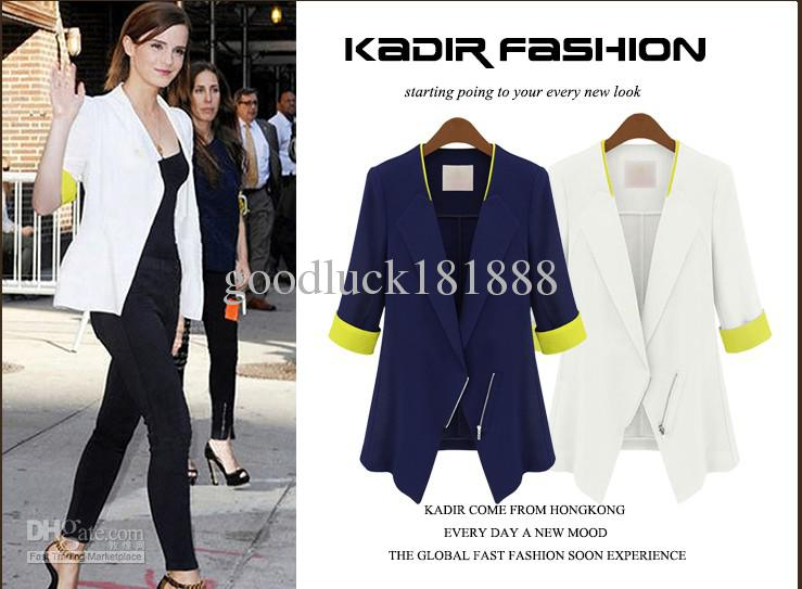 New Women Girls Fashion Lapel Suit Jackets Korean Style Ladies Sexy V-Neck Jacket Noble Jacket Clothes