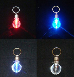Wholesale Xmax GIft via CPA LED Light Bulb Creative Keychain Fashion Light Key Ring Retail package