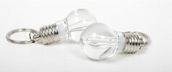 Xmax Geschenk / über CPA LED Glühlampe kreatives Keychain Art- und Weiselicht-Schlüsselring Kleinpaket